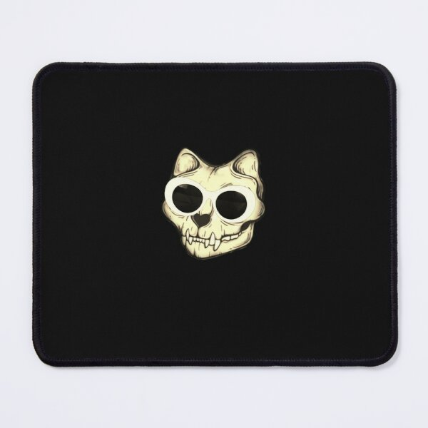 Skull With Crystals - meow skull Mouse Pad