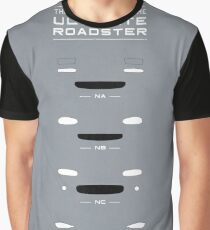The Evolution Of The Ultimate Roadster (NA, NB, NC, ND) Graphic T-Shirt