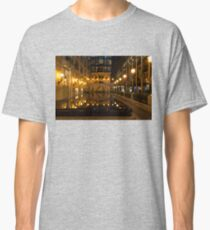 Elegant Symmetry - Reflections in Gold and Black Classic T-Shirt