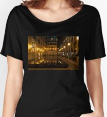 Elegant Symmetry - Reflections in Gold and Black Women's Relaxed Fit T-Shirt