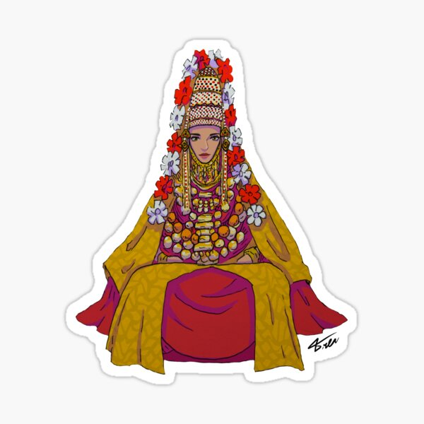 Jewish Yemenite  Bride  Sticker