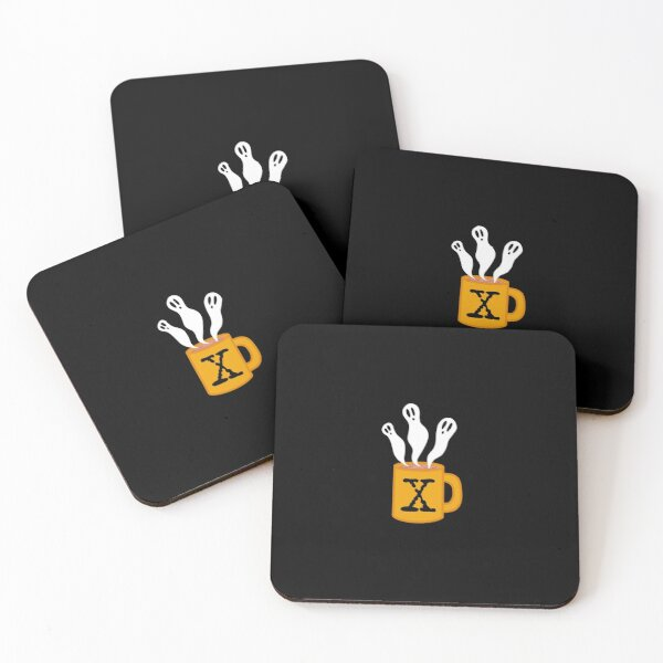 spooky coffee- ghosts Coasters (Set of 4)