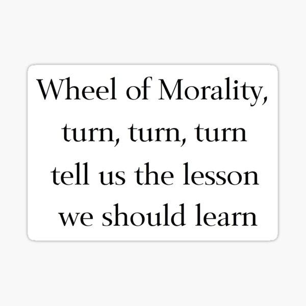 Rueda de la moralidad Pegatina