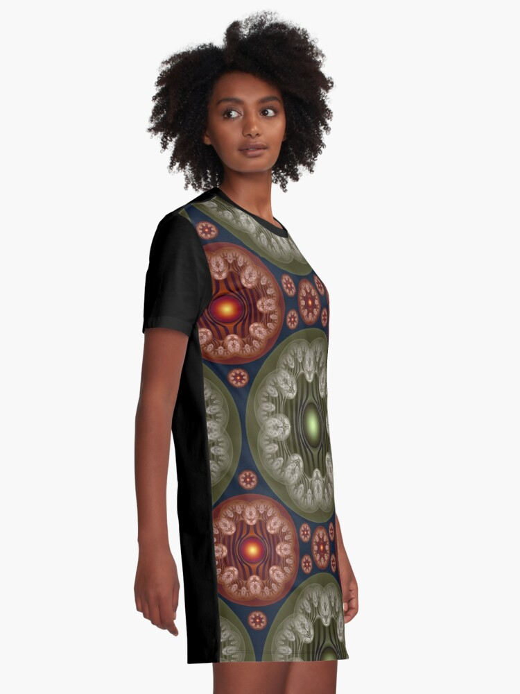 Alternate view of Colorful enamoring pattern Graphic T-Shirt Dress