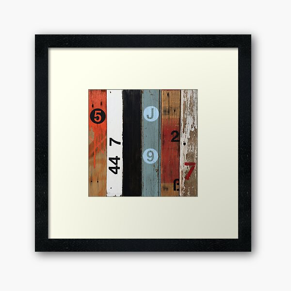 Number 5 Orange Framed Art Print