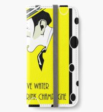 Jazz age deco Drink champagne, bubbles iPhone Wallet/Case/Skin