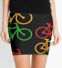 Traffic Light Bicycles Mini Skirt