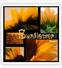 Sunflower Macro Collage Scrapbook Page Sticker