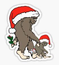 Christmas Bigfoot Family  Sticker
