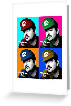 Warhol Inspired SexyMario -- Sexy Super Mario by SexyMario