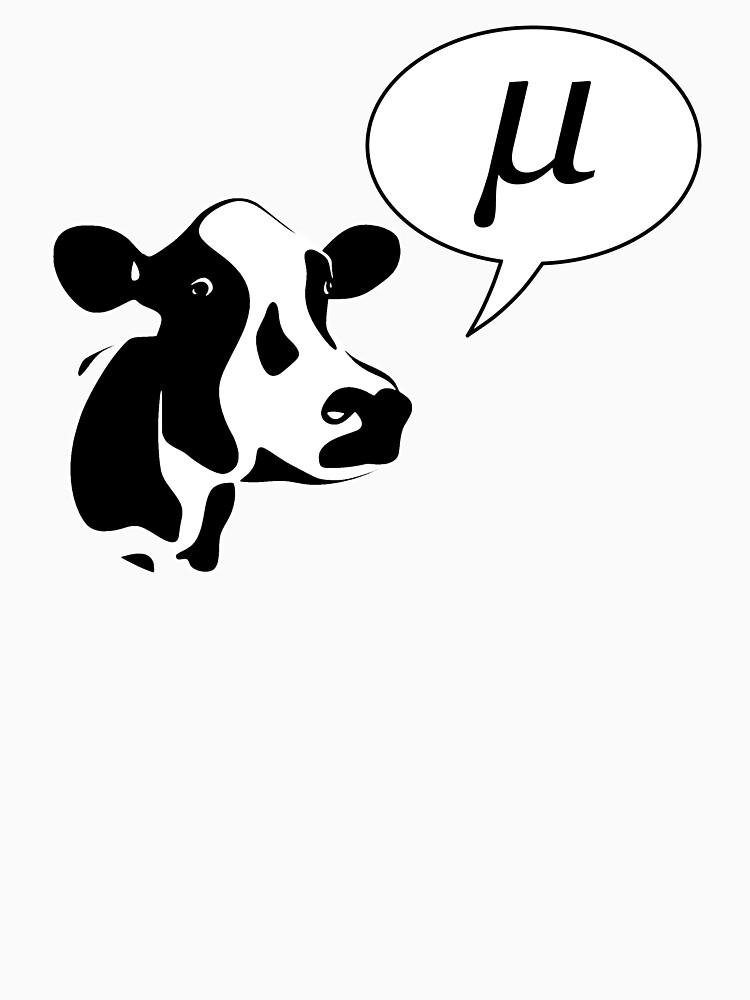 Scientific Cow Goes Mu | Unisex T-Shirt