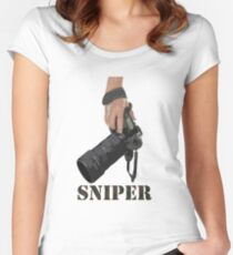 Sniping - photographer-style! Women's Fitted Scoop T-Shirt