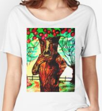 WIZARD OF OZ SELFISH APPLE TREE Women's Relaxed Fit T-Shirt