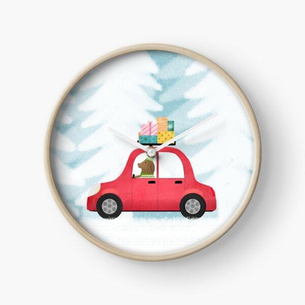 Christmas scene Clock