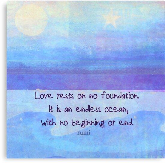Rumi Inspirational Ocean Love Quote By Goldenslipper
