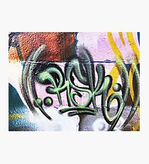 Graffiti Tags - Street Art Wollongong Photographic Print