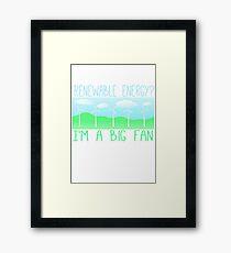 Big fan of renewable energy Framed Print