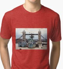 War Ship Belfast in London Tri-blend T-Shirt