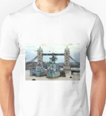 War Ship Belfast in London Unisex T-Shirt
