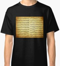 Music sheet on vintage paper Classic T-Shirt