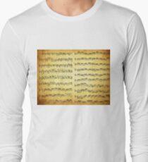 Music sheet on vintage paper T-Shirt
