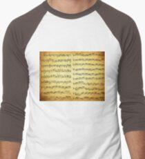 Music sheet on vintage paper Men's Baseball ¾ T-Shirt