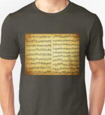 Music sheet on vintage paper Unisex T-Shirt