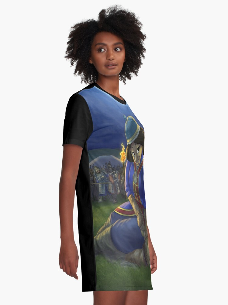 Alternate view of Khutulun - Rejected Princesses Graphic T-Shirt Dress