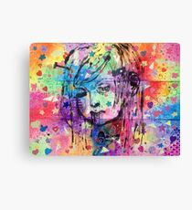 Little Girl Barf Board Canvas Print