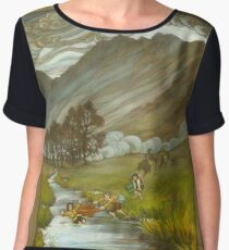 Midgewater Marshes to the Weather Hills Women's Chiffon Top