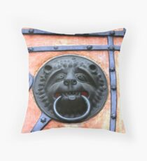 Middle Ages door handle, gate in Germany Throw Pillow
