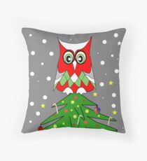 Tree Top Owl Throw Pillow