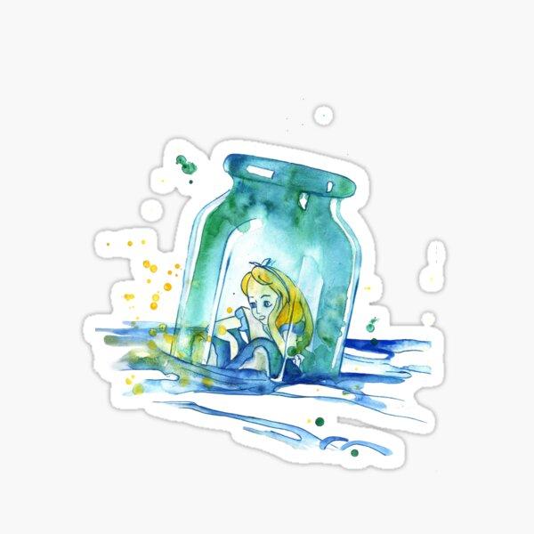 Girl In Bottle Sticker
