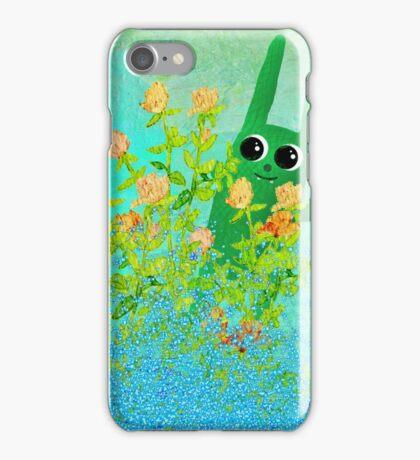green bunny iPhone Case/Skin