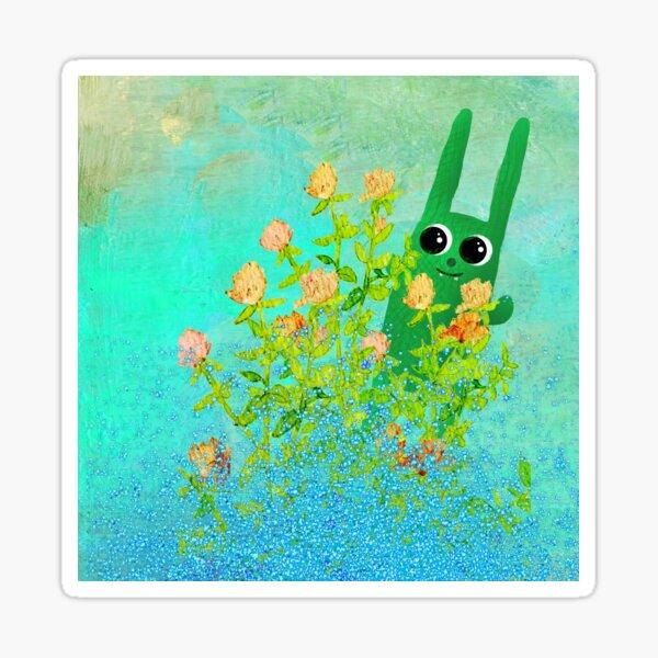 green bunny Sticker