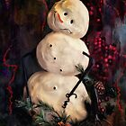 Forest Snowman by Lois  Bryan