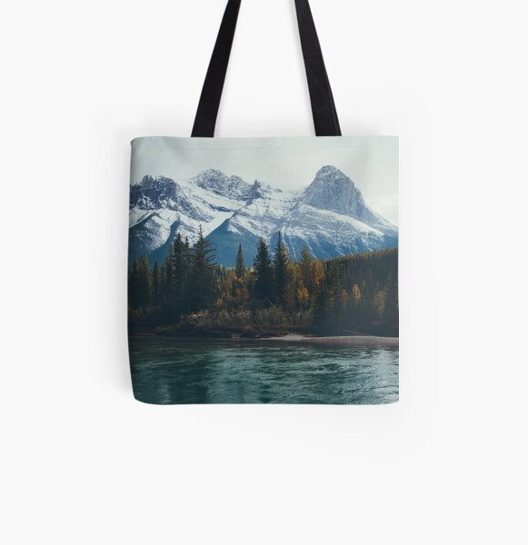 mountain river All Over Print Tote Bag