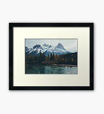 mountain river Framed Print
