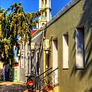 Bell Tower and Alley by Tom Gomez