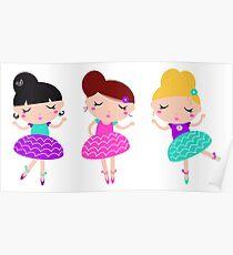 Dancing ballerina series - cute Kids Poster