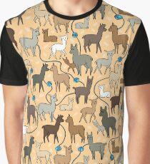 Happy Alpacas Graphic T-Shirt