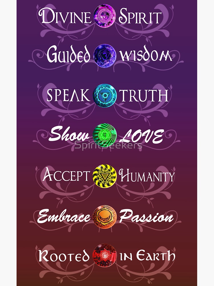 Worded Chakras by SpiritSeekers