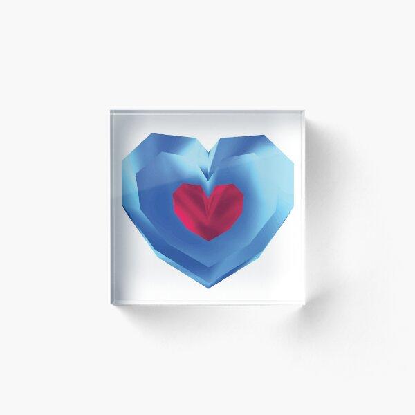 OOT Piece of Heart Acrylic Block
