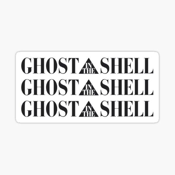 ghost in the shell sticker 3-in-1 white Sticker