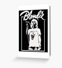Debbie Harry - Blondie Greeting Card