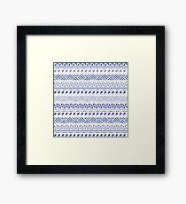 Tribal Geometric Contemporary Lilac Framed Print