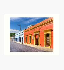 The Colorful Architecture of Oaxaca Mexico Art Print