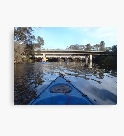 kayaking up the Canning Canvas Print