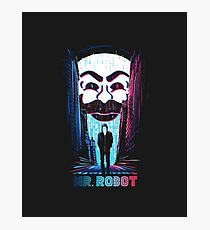 Mr. Robot in Red & Blue Photographic Print