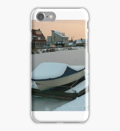 snow covered boat iPhone Case/Skin